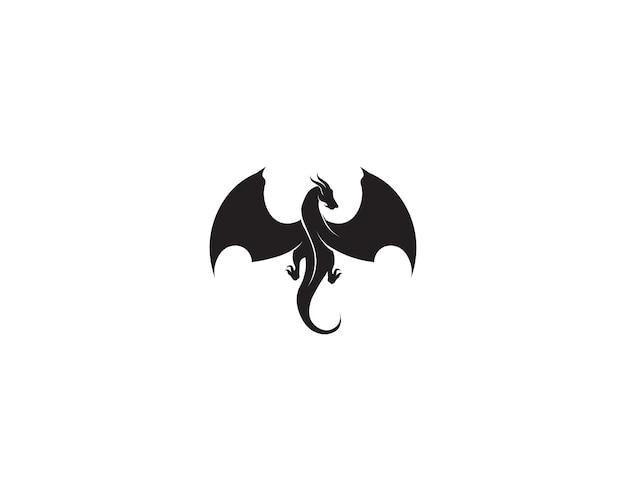 Tête dragon plat couleur logo modèle vector illustration Vecteur Premium