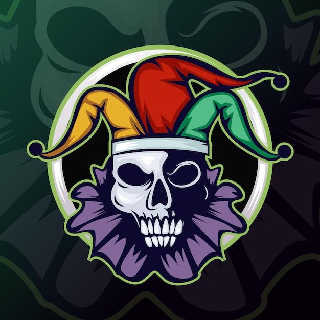 Tête De Joker Ou Mascotte De Clown Logo Mascotte Esports. Vecteur gratuit