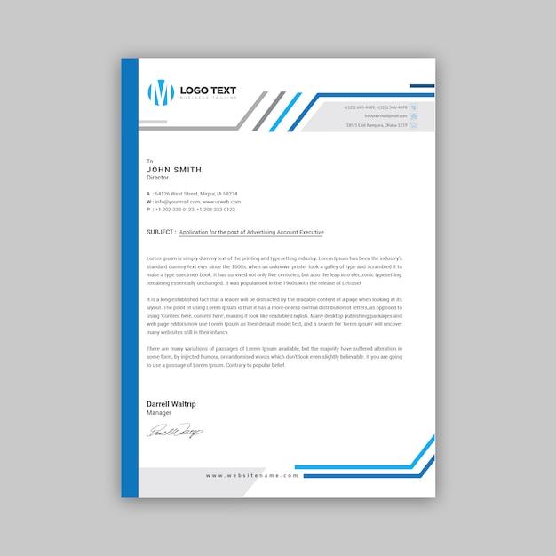 En-tête de lettre Vecteur Premium