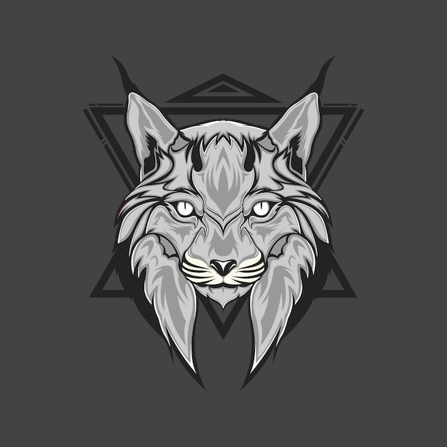Tête de lynx Vecteur Premium
