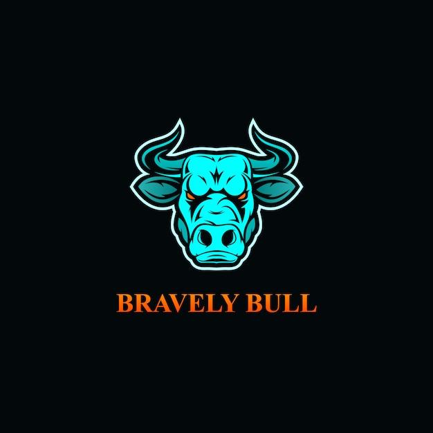 Tête de taureau en colère esport logo Vecteur Premium