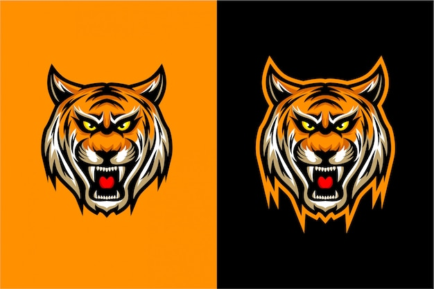 Tête de tigre vecteur Vecteur Premium
