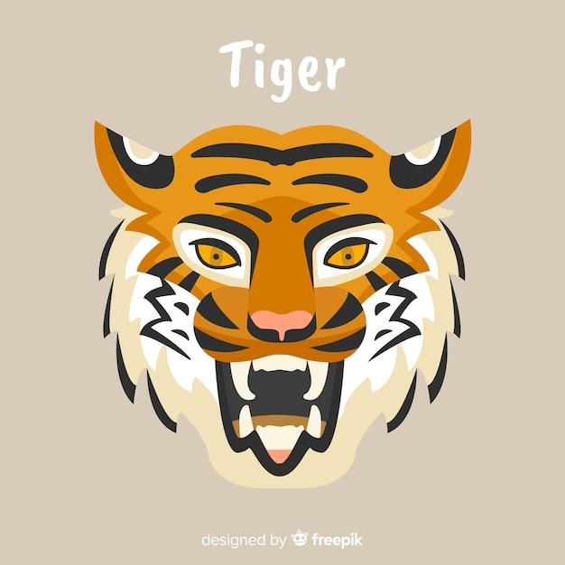 Tête de tigre Vecteur gratuit