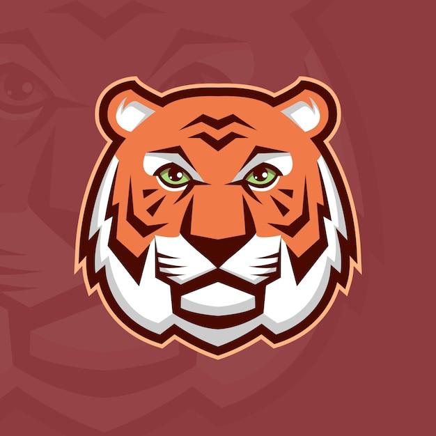 Tête de tigre Vecteur Premium