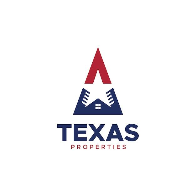 Texas Properties Logo Vecteur Premium