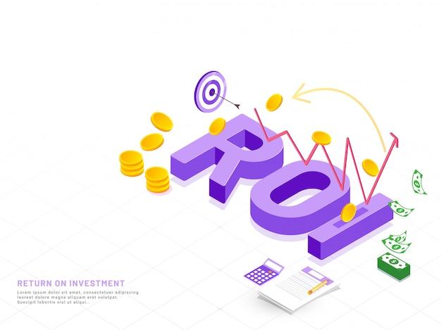 Texte en 3d violet roi sur fond blanc. Vecteur Premium