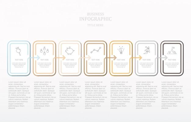 Texte De La Boîte Carrée Moderne Infographie. Vecteur Premium