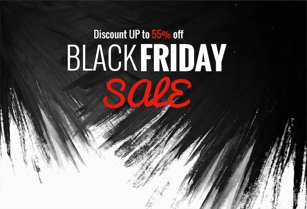 Texte créatif de belle vente de magasinage vendredi noir Vecteur gratuit