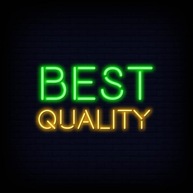 Texte de qualité supérieure au néon Vecteur Premium