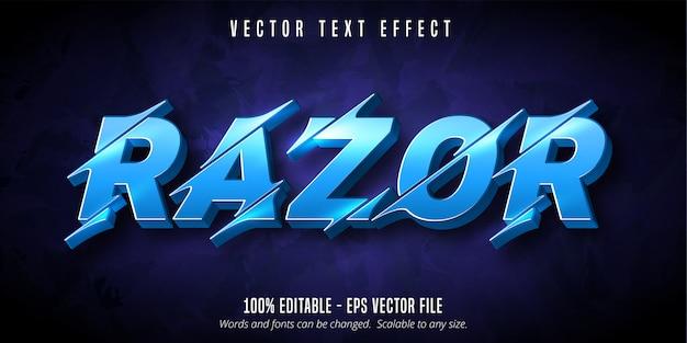 Texte De Rasoir, Effet De Texte Modifiable De Style De Découpe Vecteur Premium