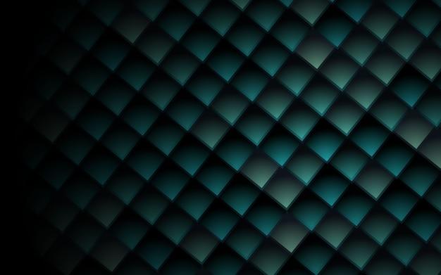 Texture 3d cubes fond abstrait carrés verts Vecteur Premium