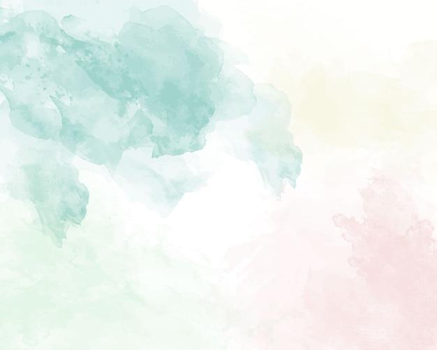Texture abstraite aquarelle douce bleue. Vecteur Premium