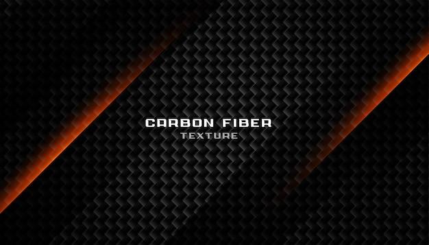 Texture abstraite en fibre de carbone noir foncé Vecteur gratuit