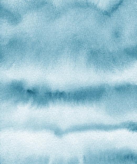 Texture Aquarelle Bleue. Fond De Papier Peint à La Main. Vecteur Premium