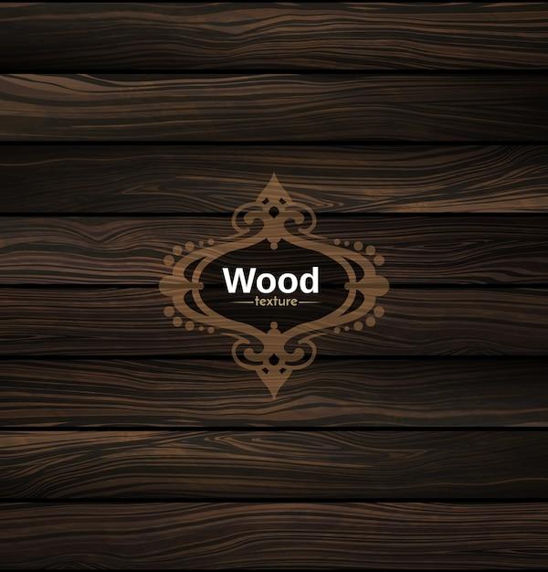 Texture bois vecteur fond en bois foncé naturel.   Télécharger des Vecteurs Premium
