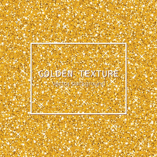 Texture dorée scintillante Vecteur Premium