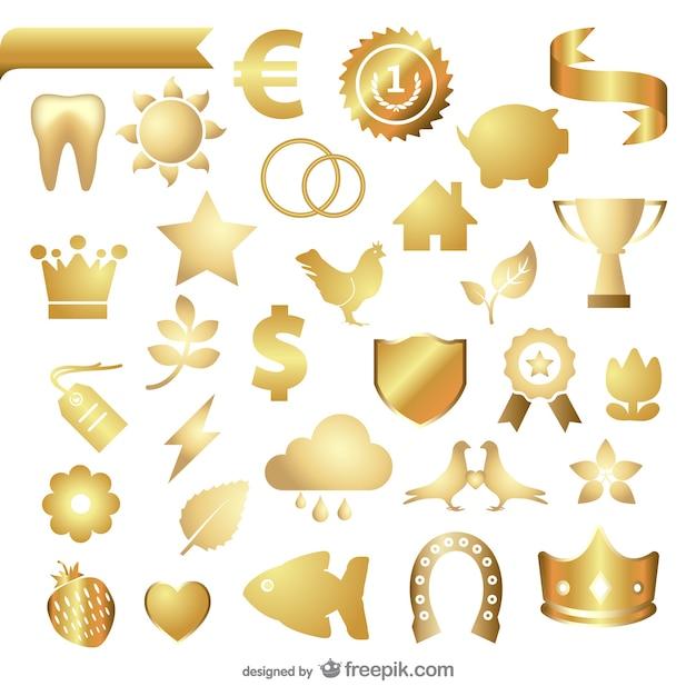 La texture du métal des bijoux icône vecteur Vecteur gratuit