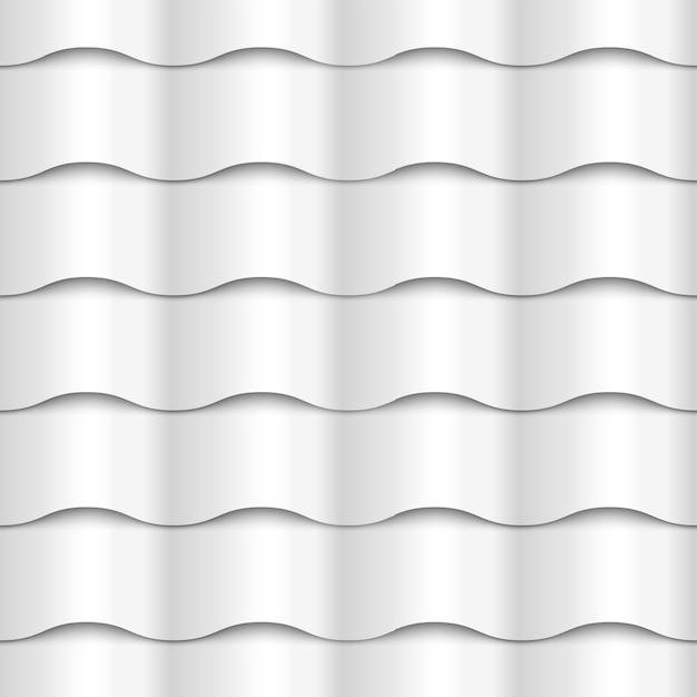 Texture du papier blanc motif ondulé sans soudure Vecteur Premium