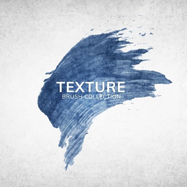 Texture du trait de pinceau bleu Vecteur gratuit