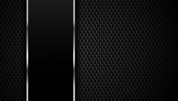 Texture En Fibre De Carbone Avec Fond De Lignes Métalliques Vecteur gratuit