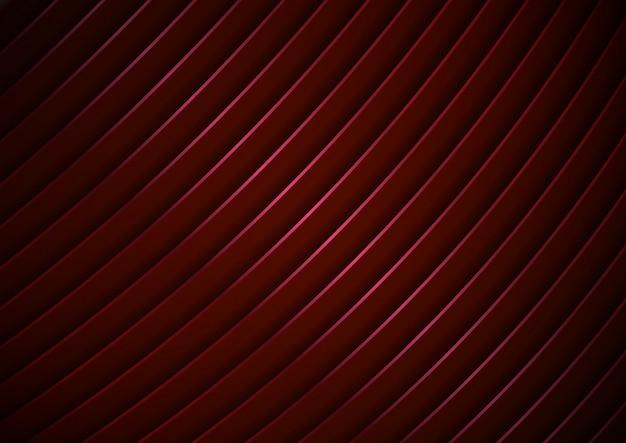 Texture De Fond Abstrait Rayures Courbes Rouges Modernes Vecteur Premium