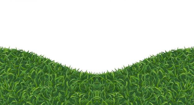 Texture d'herbe verte abstraite pour le fond. Vecteur Premium