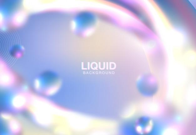 Texture holographique abstraite horizontale Vecteur Premium
