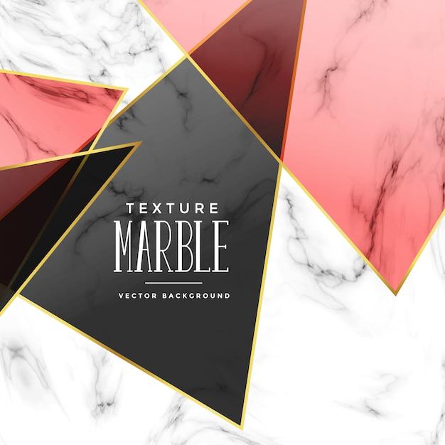 Texture de marbre abstrait avec des formes géométriques Vecteur gratuit