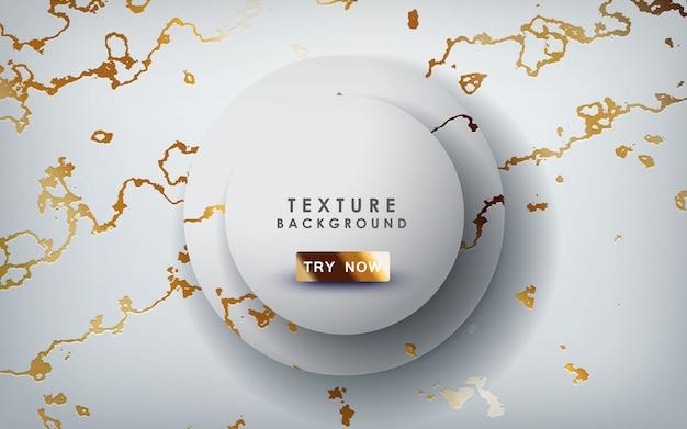 Texture marbre doré avec des couches de cercle Vecteur Premium