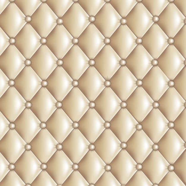 Texture matelassée beige Vecteur Premium