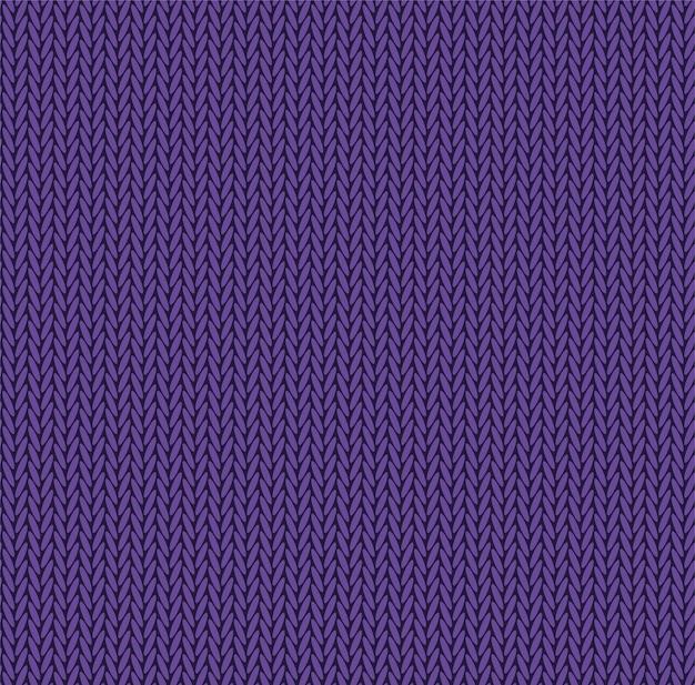 Texture Mauve De Couleur Pourpre. Tissu De Modèle Sans Couture De Vecteur. Design Plat De Fond De Tricot. Vecteur Premium
