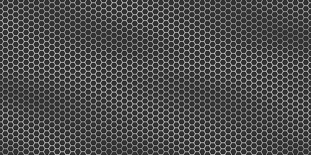Texture Métallique Argentée - Fond Hexagonal De Grille Métallique. Vecteur Premium