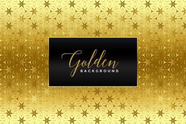 Texture de motif feuille d'or Vecteur gratuit