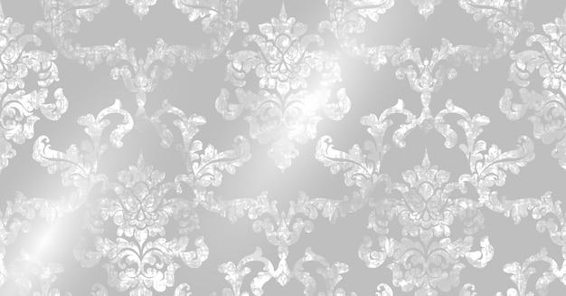 Texture Motif Rococo Vecteur Premium