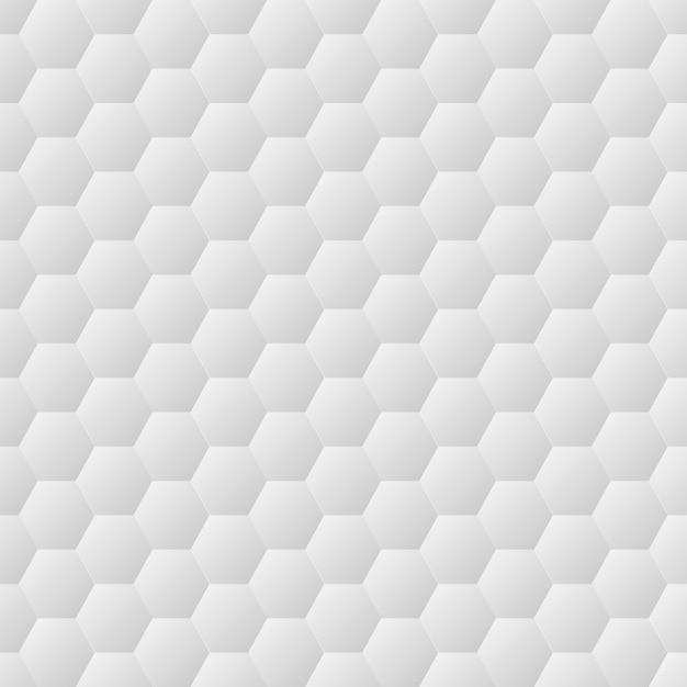 Texture de mur blanc hexagones sans soudure Vecteur Premium