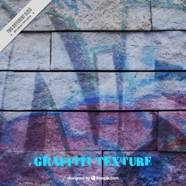 Texture D'un Mur De Briques Peintes Avec Des Graffitis Vecteur gratuit