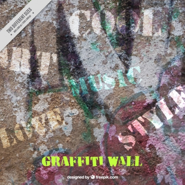 Texture D'un Mur Avec Des Graffitis Vecteur gratuit