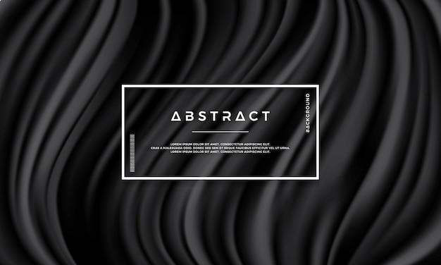 Texture noire abstraite, fond de vecteur de vague Vecteur Premium