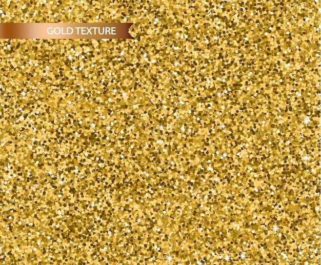 Texture de paillettes d'or réaliste Vecteur Premium