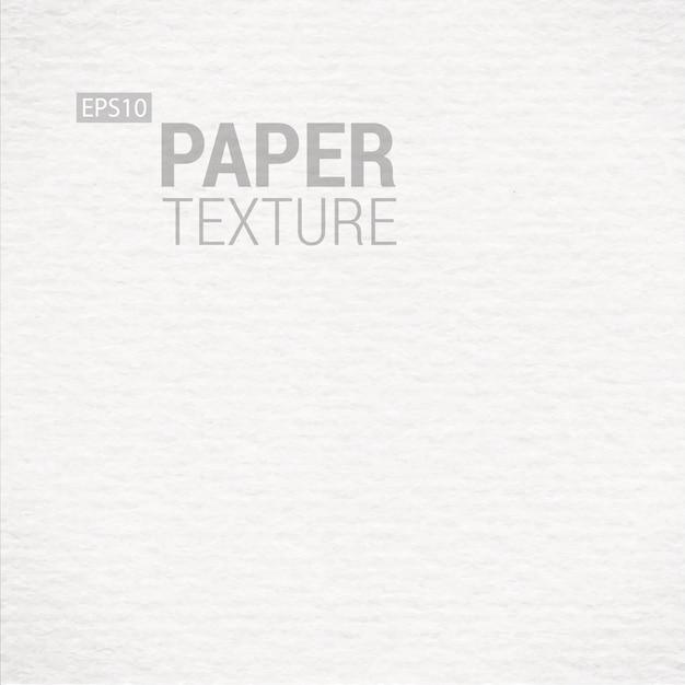 Texture De Papier Blanc Réaliste Vecteur Premium