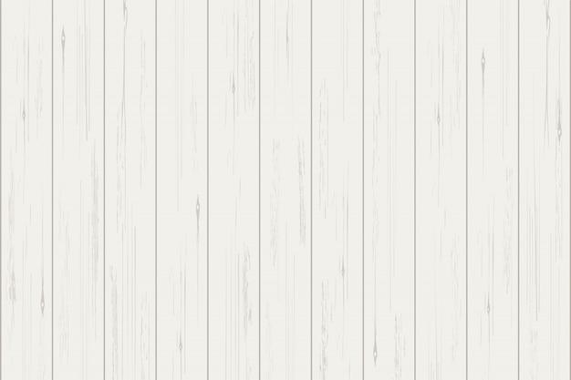 Texture de planche de bois blanc pour le fond. Vecteur Premium
