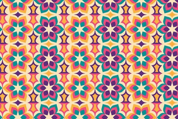 Texture Transparente Motif Géométrique Floral Groovy Vecteur gratuit