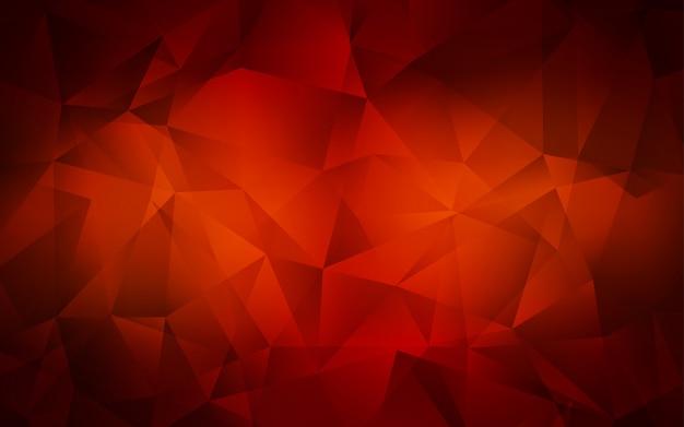 Texture de triangles dégradés vecteur rouge foncé. Vecteur Premium