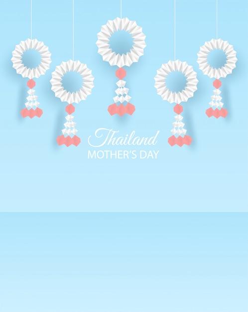 Thaïlande fond de fête des mères Vecteur Premium