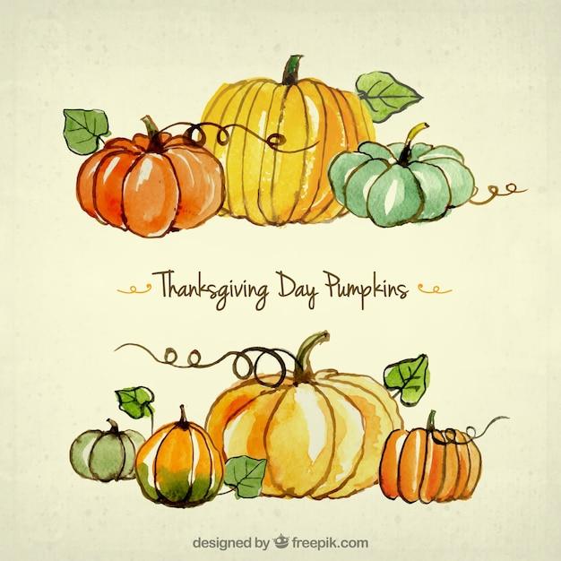 Thanksgiving citrouilles jour Vecteur gratuit