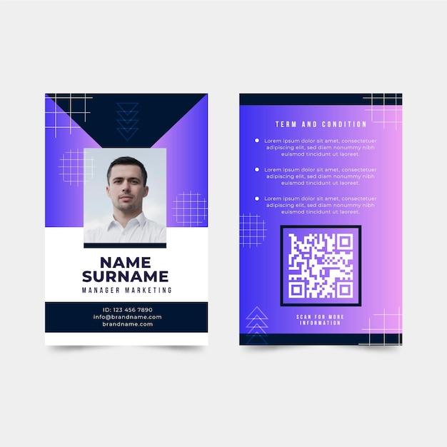 Thème Abstrait De La Carte D'identité Vecteur gratuit
