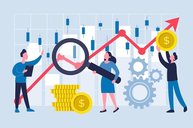 Thème D'analyse Boursière Vecteur gratuit