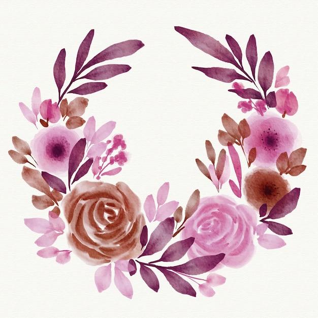 Thème De Cadre Floral Printemps Aquarelle Vecteur gratuit