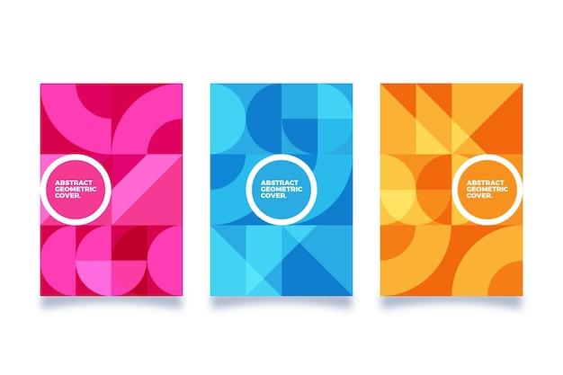 Thème De Collection De Couverture Géométrique Abstraite Vecteur gratuit