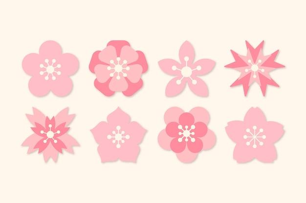 Thème De La Collection Sakura Vecteur Premium